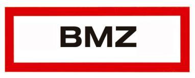Hinweisschilder 'BMZ', Klebefolie