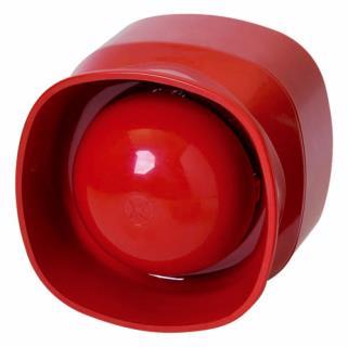 FNM-420U-A-RD Sirene, unterbrechungsfrei, innen, rot