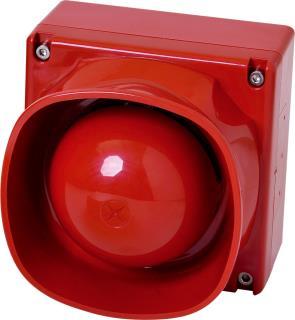 FNM-420U-B-RD Sirene, unterbrechungsfrei, außen, rot