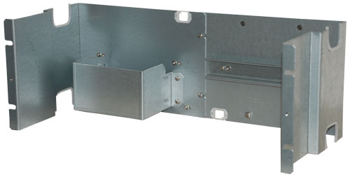 "Fitting panel, 19"", 2 DIN rails"