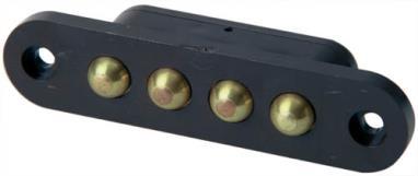 Flush-slide contact, 4-pin, brown