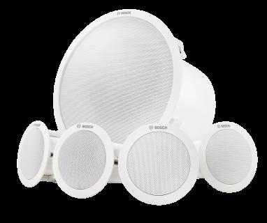 Ceiling mount speaker system, white