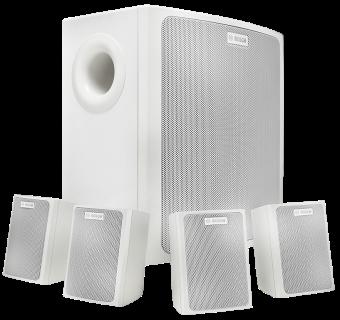 LB6-100S-L Wall mount speaker system, white
