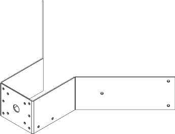 MIC-CMB-S コーナー取付用ブラケット、ステンレス製