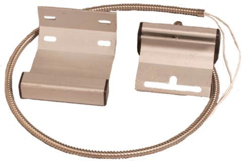 Overhead door contact, track mount
