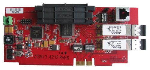 FPE-1000-NF Network card, 1-Ethernet 2-fiber optic