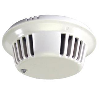 Smoke detector head, photoelectric