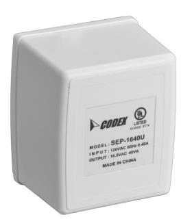 D1640-CA Transformer, plug-in, 16V 40VA, Canada