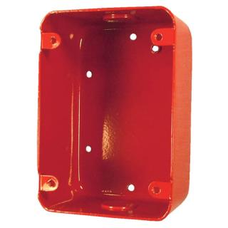 "Surface backbox, 4.75x3.25x2.25"", red"