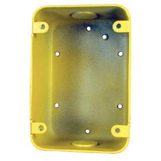 "Surface backbox, 4.74x3.25x2.25"", yellow"