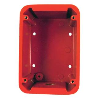 "Weatherproof backbox 4.75x3.25x2.25"" red"