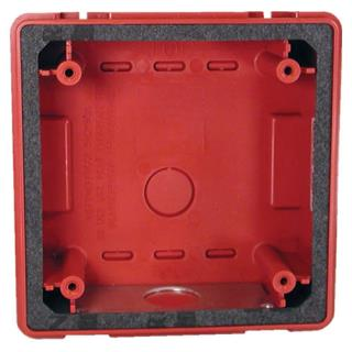 Backbox, weatherproof, red