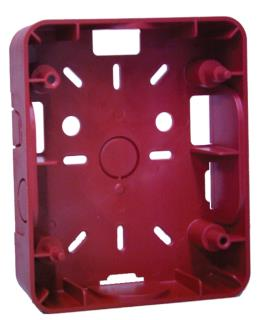 """Surface backbox, 5.6x4.6x1.5"""", red"""