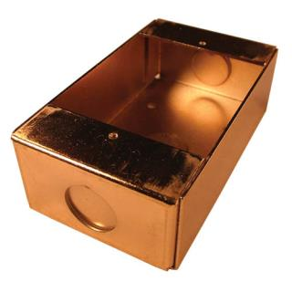 D372B Caja trasera superficial, acabado latón