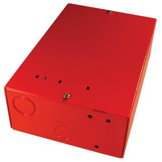 "Universal enclosure, 5.25x7.75x2.5"", red"