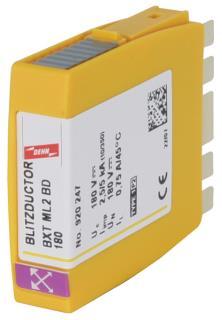 BXT ML2 BD 180 Kombi Ableiter Modul