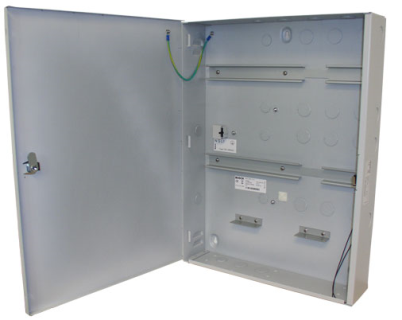 Enclosure with 2 DIN rails