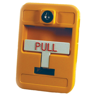 Manual station, single-action, yellow