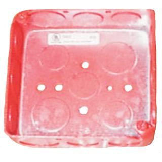 """Backbox, 3.375x3.375x2.1875"""", red"""