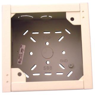"Surface backbox, 5.5x5.6x3.6"", white"