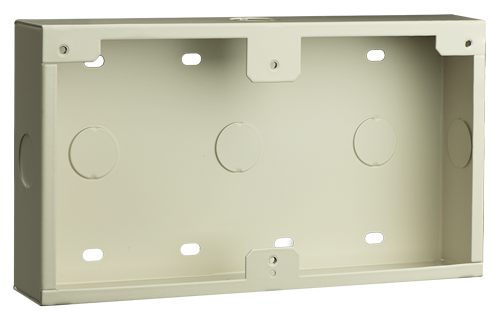 Conduit box, surface-mount, white