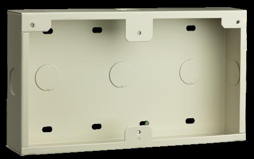 Caja conductos, montaje superf., blanca