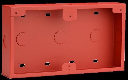 Caja conductos, montaje superf., roja