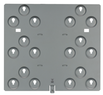 D9002-5 Mounting plate, 6 location 3-hole, 5 pcs