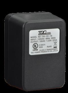 ICP-TR1822-CAN Transformer, plug-in, 18V 22VA, Canada