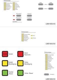 PLN‑VASLB‑xx Plena Sprachalarmierungs System – Aufkleber