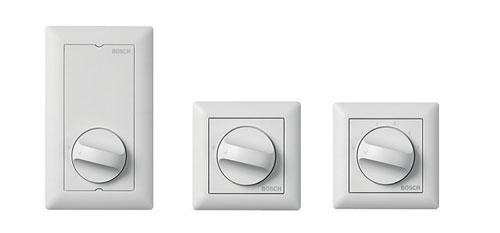 LBC14xx/x0 – Regulatory głośności U40 i LBC1431/10 – Przełącznik wyboru źródła