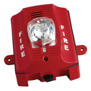 SS‑P2RK Two‑wire, Wall‑mount Outdoor Horn Strobe (red)