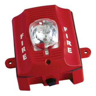 SS‑SRK Two‑wire, Wall‑mount Outdoor Strobe (red)