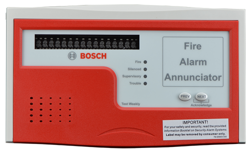 Remote fire annunciator, red/grey