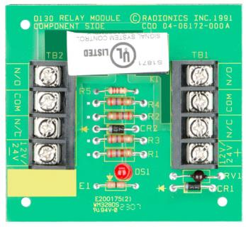 D130 Auxiliary relay module, 12/24VDC