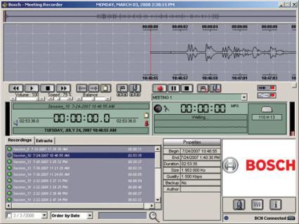 DCN-MR Software de grabación para reuniones