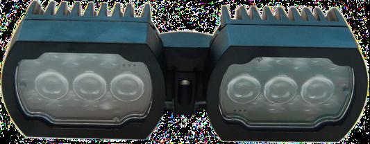 MIC-ILB-100照明器、赤外線/白色光コンボ、黒