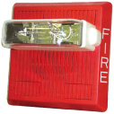 HS4-24MCW-FR Alt./luz estrob pared, 15-110cd 24V,roja