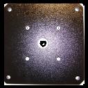 MIC-SPR-BD 壁面マウントスプレッダープレート、黒サンド