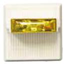 MTWPA-2475W-NW Wall strobe, amber lens, weatherproof