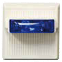 MTWPB-2475W-NW Luz estrob. pared, lente azul, intemp.