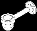 MIC-WMB-S コーナー取付用ブラケット、白