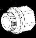 MIC-M25XNPT34 Adaptador, M25 a 3/4