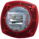 G-SSPK24WLPR Alt./luz estr. pared, 15-110cd 24V, rojo