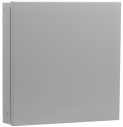 Steel enclosure, large, grey
