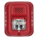 SS-P2RL Wall horn/strobe, 2-wire, red