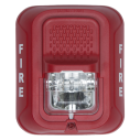 SS-SRL Wall strobe, 2-wire, red