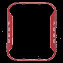 SS-BZR-PG Bezel wall horn/strobe red, pt