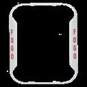 SS-BZW-PG Bezel wall horn/strobe white, pt