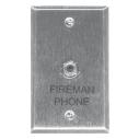 Fire phone jack, single gang plate
